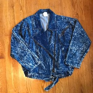 Rad 80s Acid Wash Jean Jacket